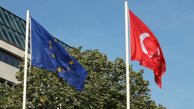Turkish and European flag