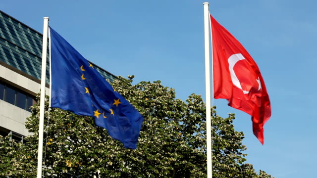 turkish and european flag - national flag stock videos & royalty-free footage