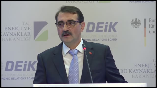 turkish and germany energy ministers on friday signed a letter of intent to develop energy projects.the document was signed at the turkish-german... - capital letter点の映像素材/bロール