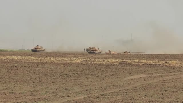 turkish and iraqi armed forces launch a joint military exercise on the turkishiraqi border following a controversial referendum in northern iraq in... - silopi stock videos and b-roll footage