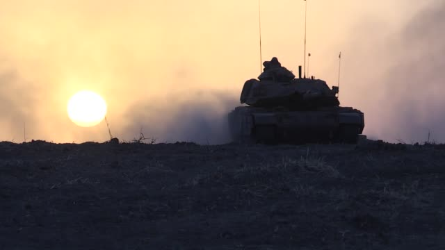 turkish armed forces conducts military exercise on its twelfth day near habur border gate on turkishiraqi border in silopi district of sirnak... - silopi stock videos and b-roll footage