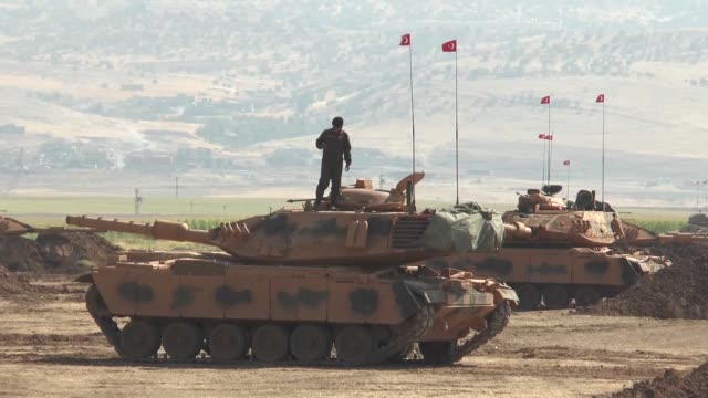 turkish armed forces continue their military exercises on its fifth day in the silopi and habur areas on the iraqi border on september 22 2017 in... - silopi stock videos and b-roll footage