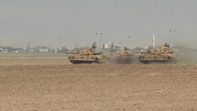 turkish armed forces continue their military exercises on its sixth day in the silopi and habur areas on the iraqi border on september 23 2017 in... - silopi stock videos and b-roll footage