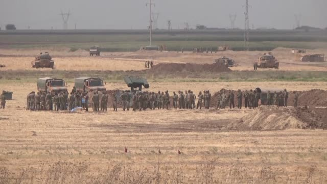 turkish armed forces continue their military exercises on its third day in the silopi and habur areas on the iraqi border on september 20 2017 in... - silopi stock videos and b-roll footage
