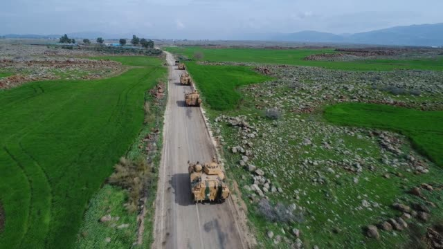 Turkish Armed Forces convoy arrives in Turkey's southern border province of Hatay as part of the ongoing Operation Olive Branch in Syria's Afrin on...