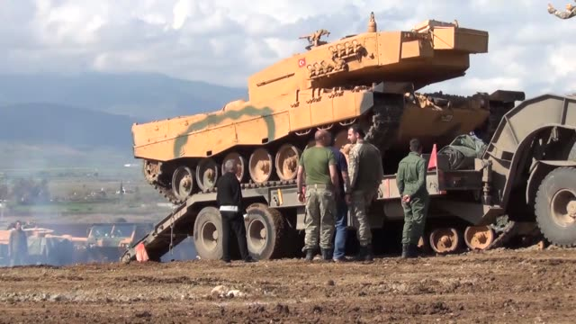turkish armed forces convoy arrives in turkey's southern border province of hatay as part of the ongoing operation olive branch in syria's afrin on... - hatay stock videos & royalty-free footage