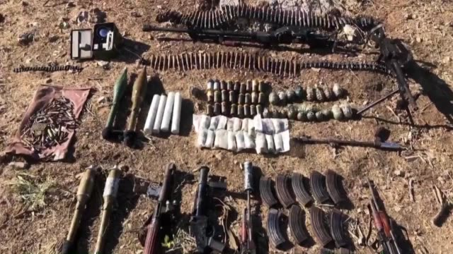 turkish army seized a large amount of ammunition as part of a fresh antiterror operation in northern iraq on june 24 2020 the turkish national... - kurdistan workers party stock videos & royalty-free footage