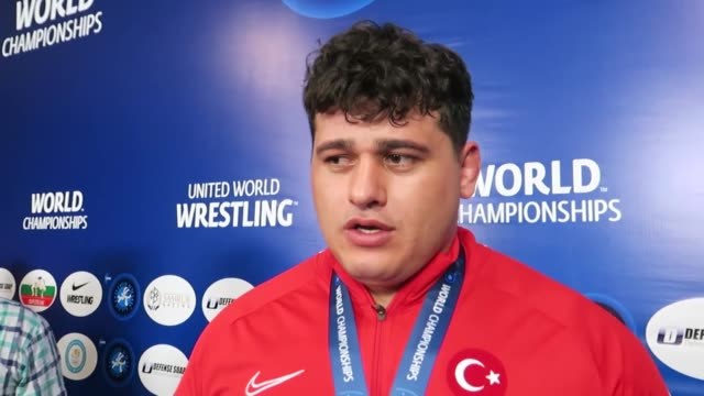 turkish athlete riza kayaalp tuesday claimed gold medal in the world wrestling championships in nursultan kazakhstan kayaalp beat his cuban opponent... - world title stock videos & royalty-free footage