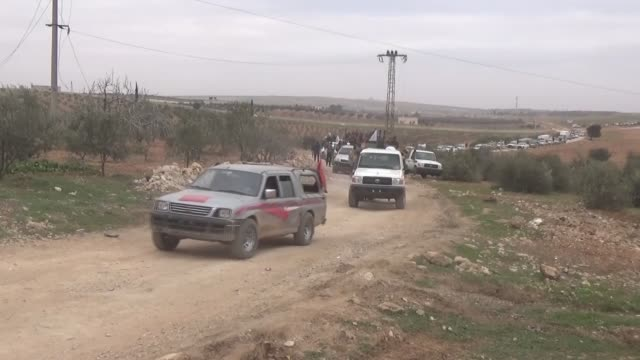 stockvideo's en b-roll-footage met turkish backed free syrian army starts new offensive to liberate albab town centre from daesh as part of operation euphrates shield on february 10... - burgeroorlog