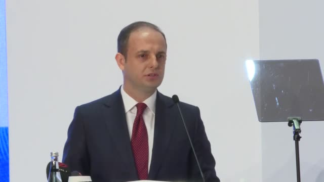 turkish central bank governor murat cetinkaya speaks at a news conference in ankara, turkey on july 31, 2018. the central bank on tuesday revised... - 14 15 years stock videos & royalty-free footage