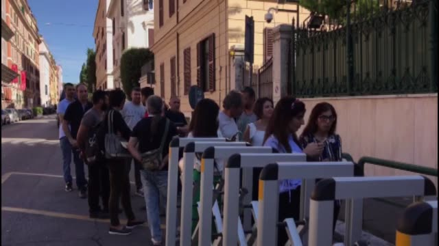 turkish citizens living in italy cast their ballots for turkey's presidential and general elections in rome italy on june 15 2018 - general election stock videos & royalty-free footage