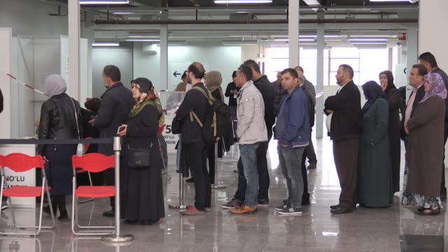 turkish citizens living in netherlands cast their ballots for turkey's presidential and general elections in the hauge netherlands on june 15 2018 - ballot box stock videos & royalty-free footage