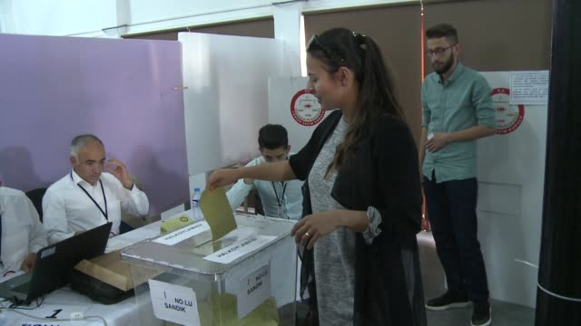 turkish citizens living in northern cyprus started to cast early ballots on wednesday in a referendum which could boost president recep tayyip... - eurasia stock videos and b-roll footage