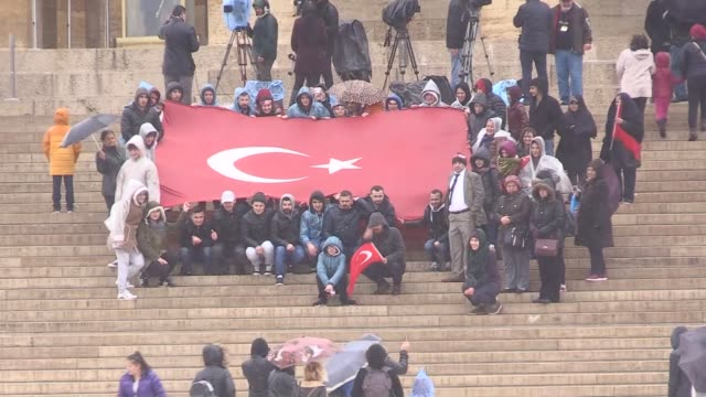 turkish citizens visit anitkabir the mausoleum of turkish republic's founder mustafa kemal ataturk on the occasion of the national sovereignty and... - founder stock videos and b-roll footage