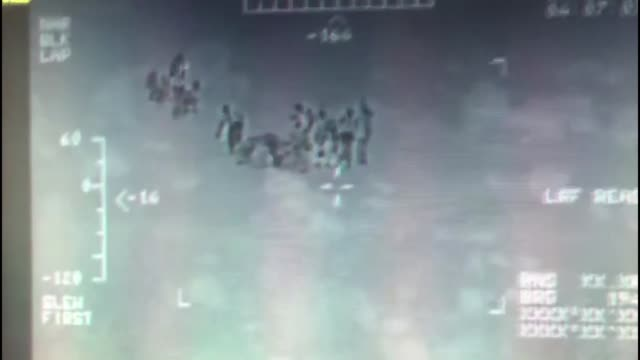 turkish coast guard members conduct a rescue operation for 40 irregular migrants stranded in yumurta island in aegean sea on november 19 2018 in... - vermischtes stock-videos und b-roll-filmmaterial
