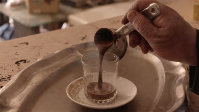 turkish coffee, cairo, egypt - egypt stock videos & royalty-free footage
