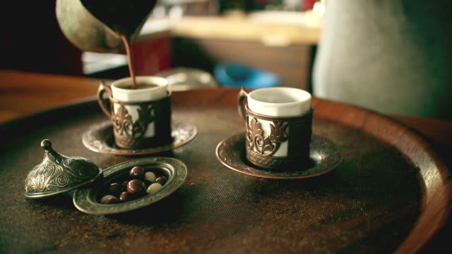 turkish coffee shop - turkey middle east stock videos & royalty-free footage