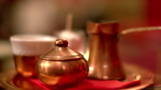 stockvideo's en b-roll-footage met turkish coffee - turks fruit