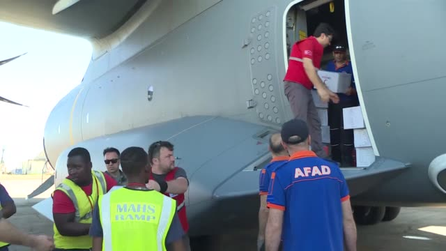 turkish cooperation and development agency and turkish red crescent send humanitarian vehicles and aid packages to flood-hit mozambique on march 24,... - mozambique stock videos & royalty-free footage