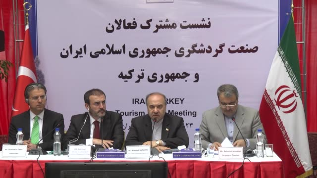 Turkish Culture and Tourism Minister Mahir Unal and Masoud Soltanifar VicePresident of Iran and the President of Iranian Cultural Heritage...
