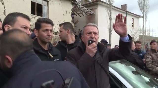 turkish defense minister hulusi akar called for calm after main opposition party leader was attacked during the funeral of a soldier in cubuk... - legal defense stock videos & royalty-free footage