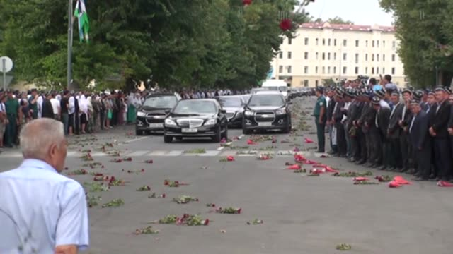 stockvideo's en b-roll-footage met turkish deputy prime minister tugrul turkes attends the funeral ceremony held for uzbekistan's president islam karimov who died after suffering brain... - bloedverlies