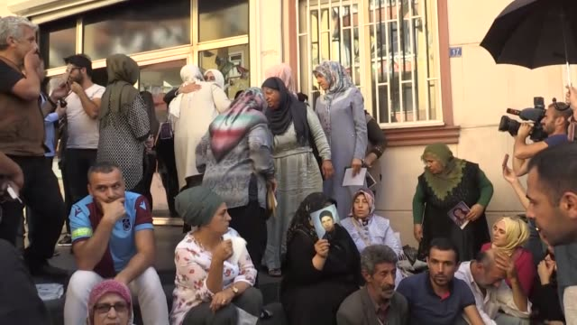 turkish family labour and social services minister zehra zumrut selcuk visits diyarbakir to show solidarity with mothers who stage sitin protest in... - mother stock videos & royalty-free footage