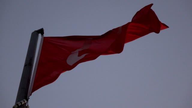 turkish flag close up - ankara stock videos and b-roll footage