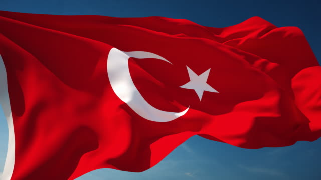 4K Turkish Flag - Loopable