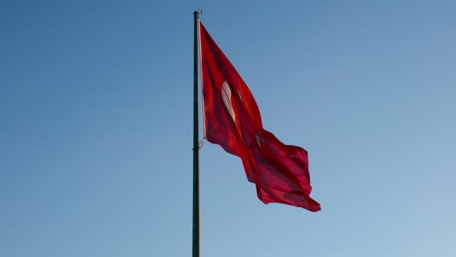 vidéos et rushes de drapeau turc 4k - drapeau turc