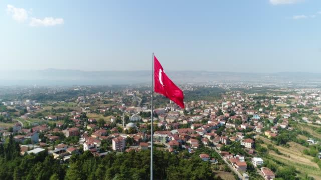 vidéos et rushes de indicateur turc - drapeau turc