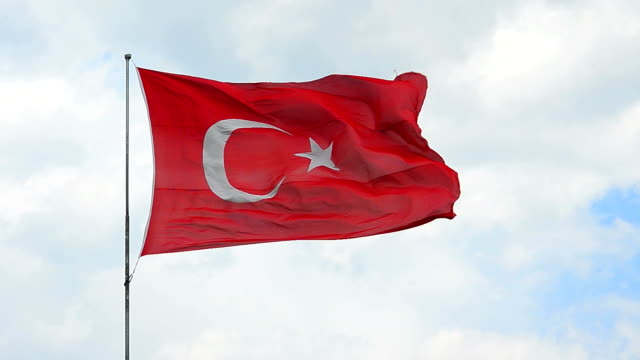 turkish flag - turkey stock videos and b-roll footage