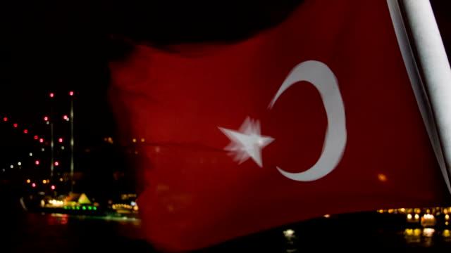 stockvideo's en b-roll-footage met turkse vlag - 15 juli martelaarsbrug