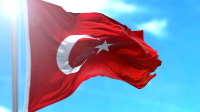 turkish flag - turkish flag stock videos & royalty-free footage