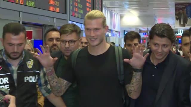 turkish football team besiktas welcomed british club liverpool's goalkeeper loris karius on saturday the istanbulbased club announced the arrival of... - besiktas stock videos and b-roll footage