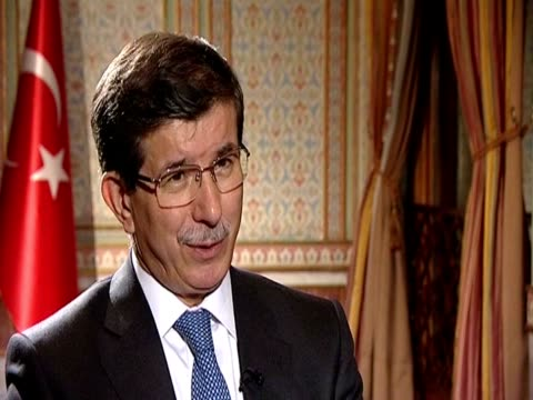 turkish foreign minister ahmet davutoglu on how the afpak summit helps tighten the relations between afghanistan and pakistan - tighten stock videos and b-roll footage