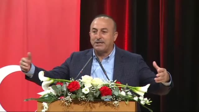 turkish foreign minister mevlut cavusoglu addresses turkish citizens in metz france on march 12 2017 turkish foreign minister said sunday turkey's... - metz stock videos and b-roll footage