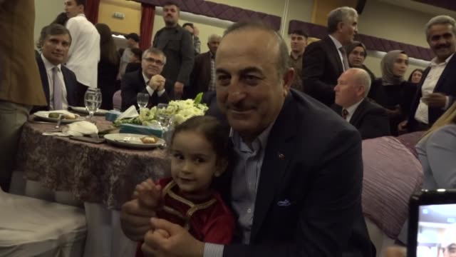 turkish foreign minister mevlut cavusoglu attends an event in antalya turkey on march 11 2019 turkey will grant citizenship to meskhetian turks also... - mediterranean turkey stock videos and b-roll footage