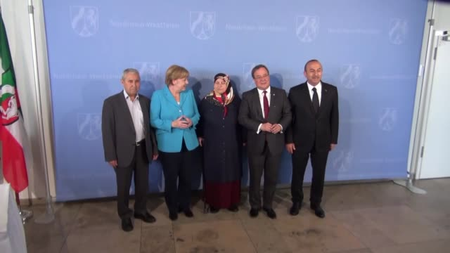 turkish foreign minister mevlut cavusoglu, german chancellor angela merkel and north-rhine westphalia nrw prime minister armin laschet meet with... - 14 15 years stock videos & royalty-free footage