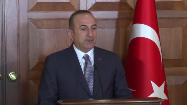 turkish foreign minister mevlut cavusoglu holds a press conference with his el salvadorian counterpart alexandra hill on august 20 2019 in ankara a... - foreign minister stock videos and b-roll footage