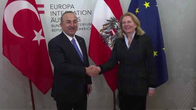 Turkish Foreign Minister Mevlut Cavusoglu meets Austrian counterpart in Vienna on Thursday