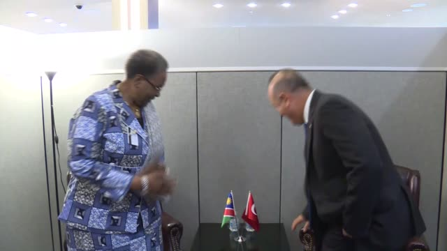 Turkish Foreign Minister Mevlut Cavusoglu meets Namibia's Minister of International Relations and Cooperation Netumbo NandiNdaitwah in New York...