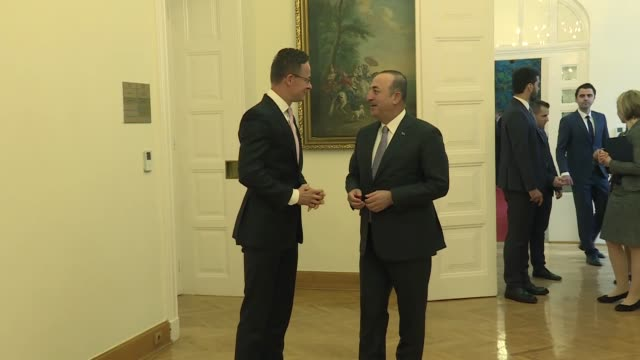 turkish foreign minister mevlut cavusoglu meets with his hungarian counterpart peter szijjarto in budapest, hungary on may 03, 2019. - hungarian culture stock videos & royalty-free footage