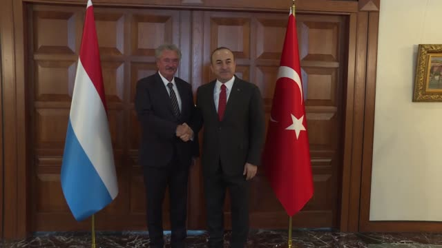 Turkish Foreign Minister Mevlut Cavusoglu meets with Luxembourgian Foreign and European Affairs Minister Jean Asselborn at Foreign Ministry residence...