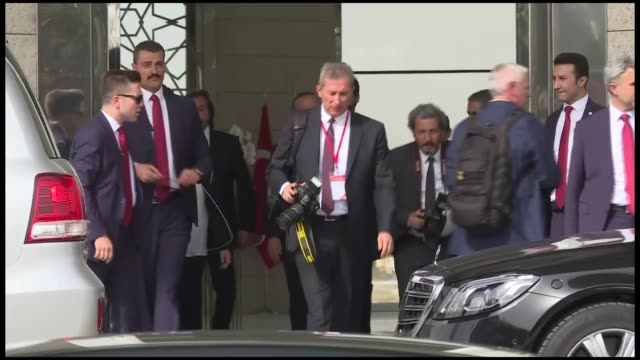 Turkish Foreign Minister Mevlut Cavusoglu meets with US Secretary of State Mike Pompeo in the capital Ankara on October 17 2018