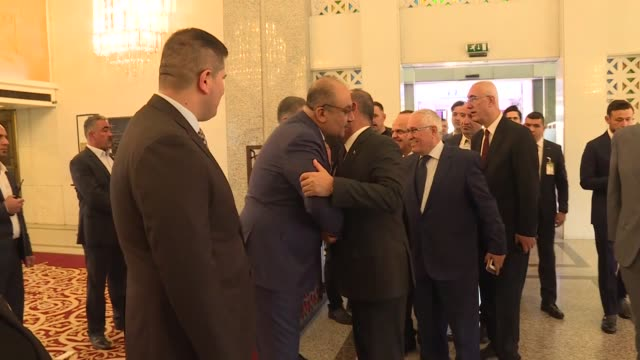 turkish foreign minister mevlut cavusoglu on sunday met with turkmen deputies in the iraqi capital of baghdad the closedoor meeting was held at a... - foreign minister stock videos and b-roll footage