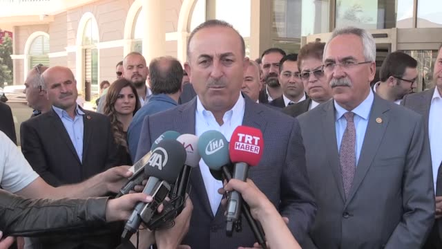 turkish foreign minister mevlut cavusoglu said friday that the us had informed the international antidaesh coalition before its attack on a syrian... - mediterranean turkey stock videos and b-roll footage