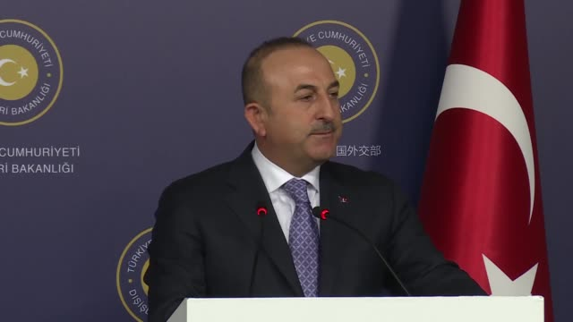 turkish foreign minister mevlut cavusoglu speaks at a joint press conference with his austrian counterpart karin kneissl following their meeting at... - traditionally austrian stock videos & royalty-free footage