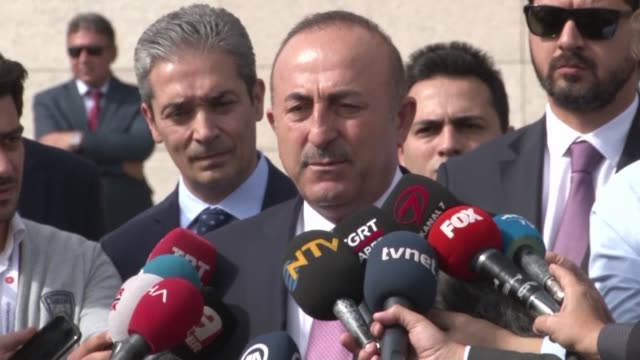 Turkish Foreign Minister Mevlut Cavusoglu tells reporters after meeting with his US counterpart Mike Pompeo that Turkish police is expected to search...