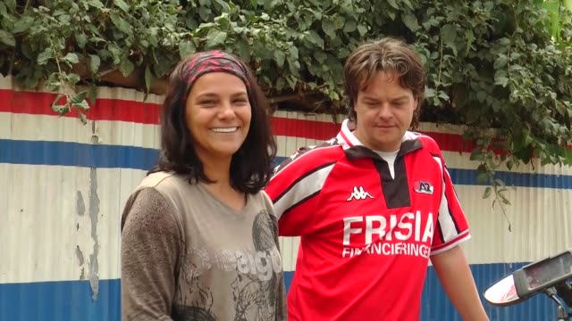 Turkish Gulcin Sogut and her European partner Ferry Schouten speak at an interview in Addis Ababa Ethiopia on April 09 2018 She faces the most...